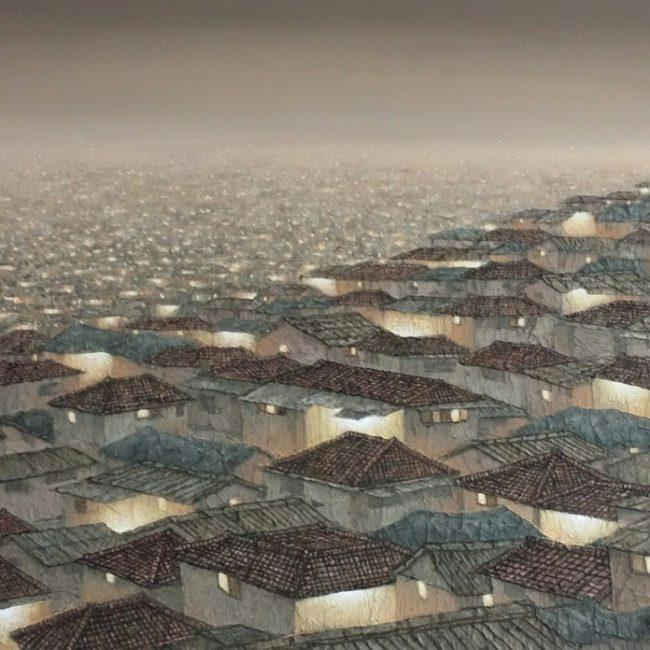 도시-사라진 풍경 73x53캔버스위에, 한지,아크릴릭 2014