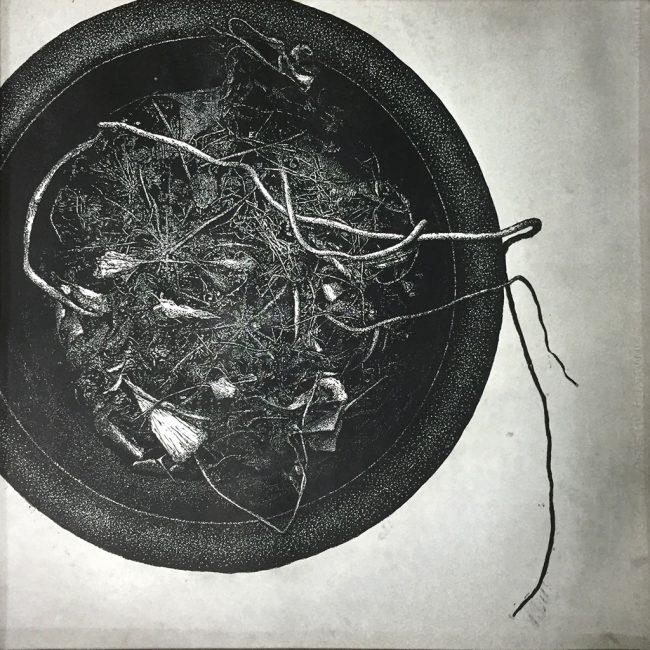 버려진화분 No.10, 목판화, 90x90cm, 2005