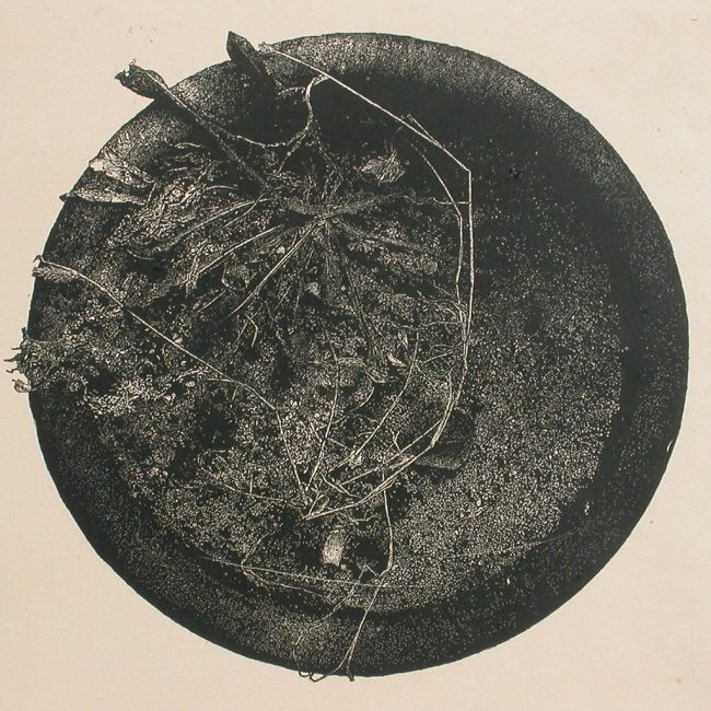 버려진화분 No.5, 목판화, 90x90cm, 2005