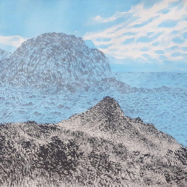 산수유람-산방산 바라보다 31x52cm 한지에 수묵채색 2016