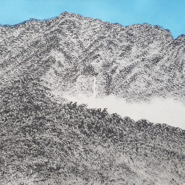 산수유람-영실기암 31x52cm 한지에 수묵채색 2016