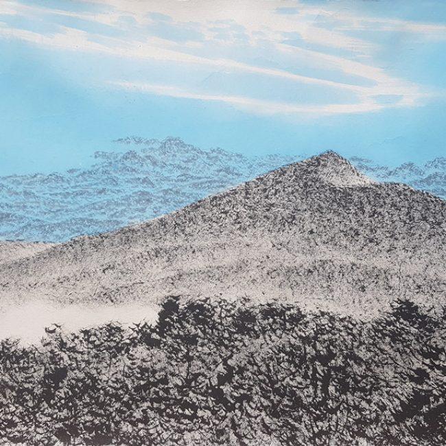 산수유람-올라보다2 31x52cm 한지에 수묵채색 2016