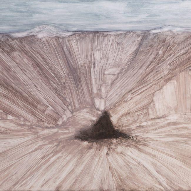 산, 76.5x 96.5cm, 땅 사진, 화학약품, 2015