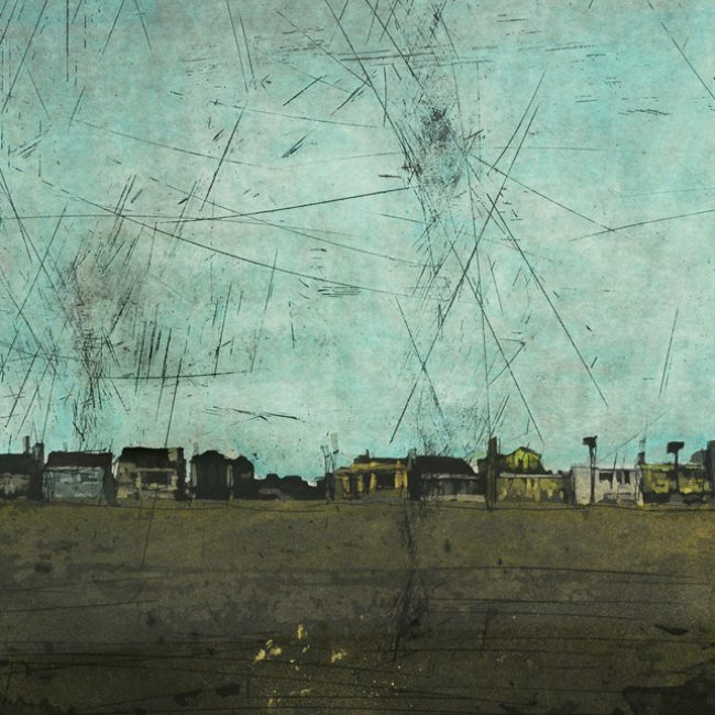 Nowhere (Santa Monica Beach, CA, United States), Hand colouring over an aquatint, 60x45cm, 2009