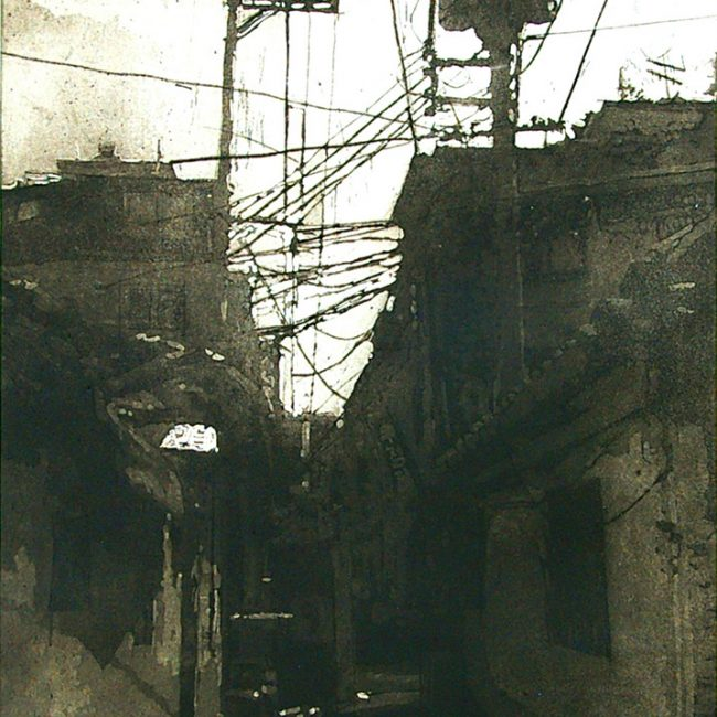 True Anomaly B (Gwanakgu, seoul, korea), Aquatint, 53 x 40cm x 2, 2006