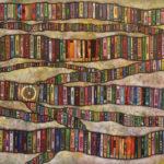 흔들리는 책, Waving Books 72x91 cm x 3점 hologram oil on canvas 2016